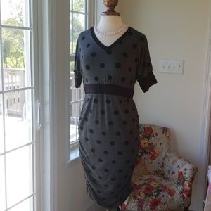 Kimi & Kai Gray Polka Dot Layna Dress